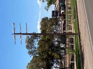 Telegraph poles on Railway Terrace